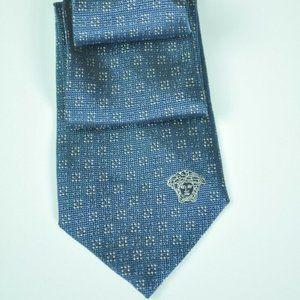 Recent VERSACE Blue & Gray Tie 100% AUTHENTIC!